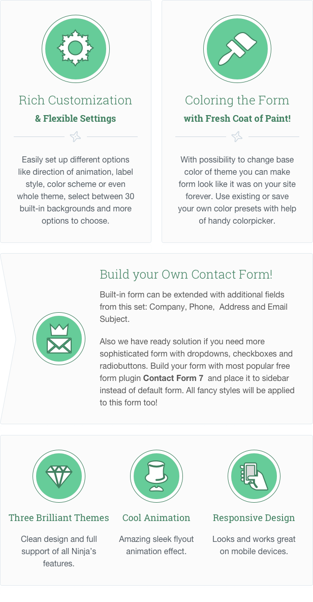 NKS: WordPress Contact Form features