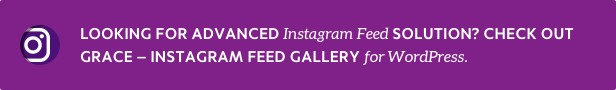 Grace Instagram Feed Gallery for WordPress info  - infobanner get grace - Flow-Flow — WordPress Social Stream Plugin