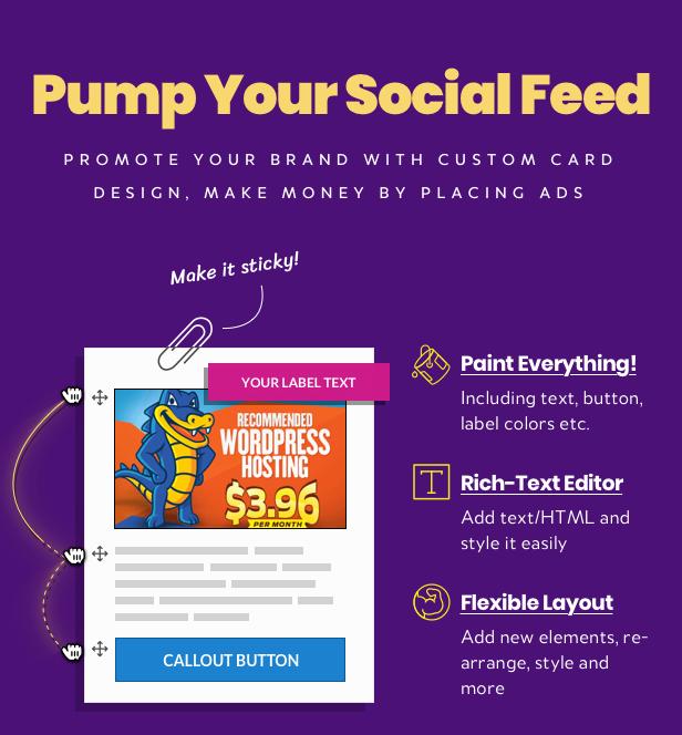 WordPress Social Stream advertisement and branding