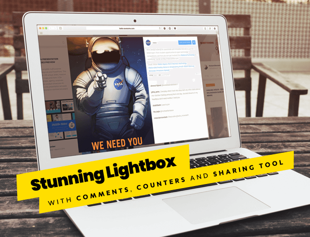 WordPress Social Stream lightbox