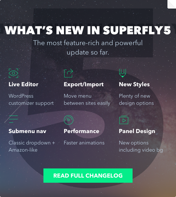 Superfly WordPress menu plugin 5 update