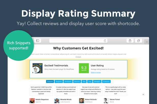 Testimonials Showcase for WordPress — Excited! - 6
