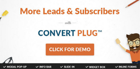 ConvertPlug — WordPress Popups Plugin