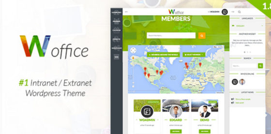 Woffice WordPress Intranet Extranet Theme