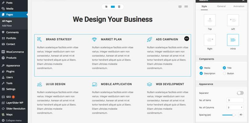 Bateaux Blueprint page builder